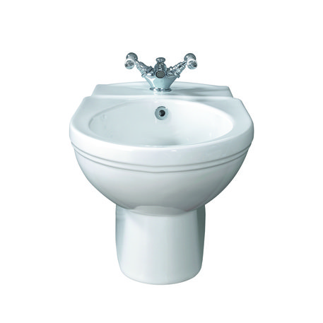 Wall mounted Empire bidet in Art Nouveau style