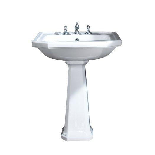 Art Nouveau washbasin of 70 cm wide