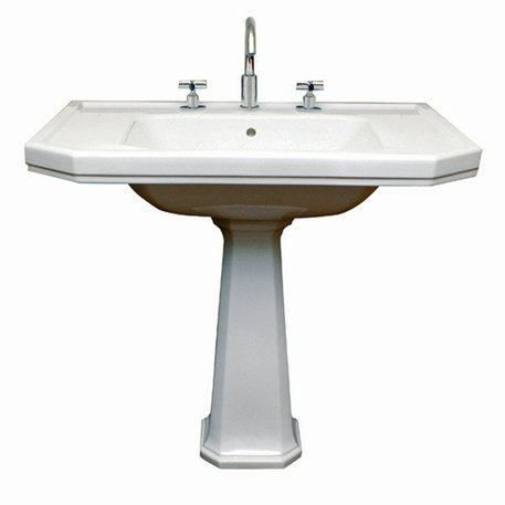 Very large Art Nouveau washbasin for the stylish bathroom