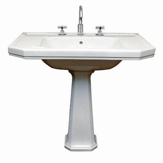 Very large Art Nouveau washbasin for the stylish bathroom