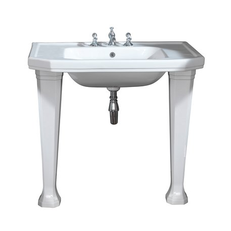 Console basin with ceramic leg set