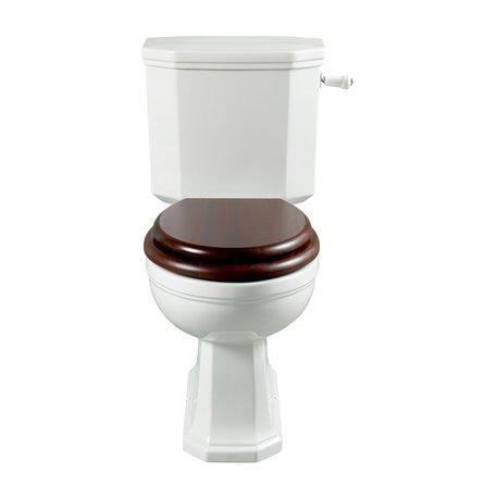 Art Nouveau toilet with monobloc cistern