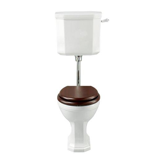 Art Nouveau toilet with low level cistern