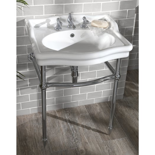 Country style bathroom with Loxley washbasin console