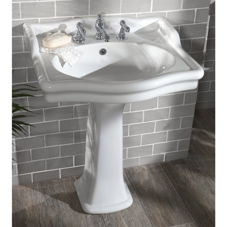 Loxley country washbasin with splash guard