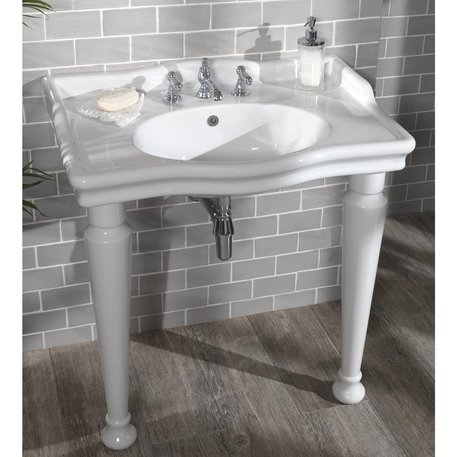 Country style large washbasin console
