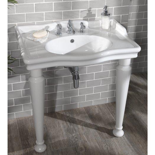 Country style large washbasin console