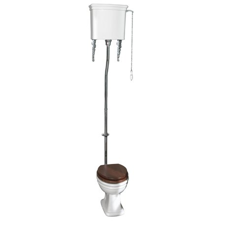 Loxley toilet with high-level cistern