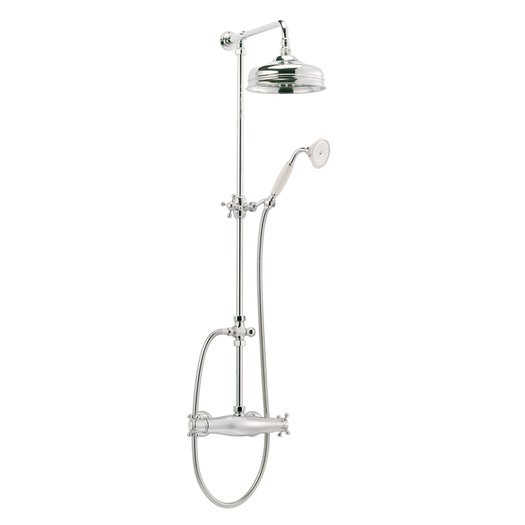 English style thermostatic shower column
