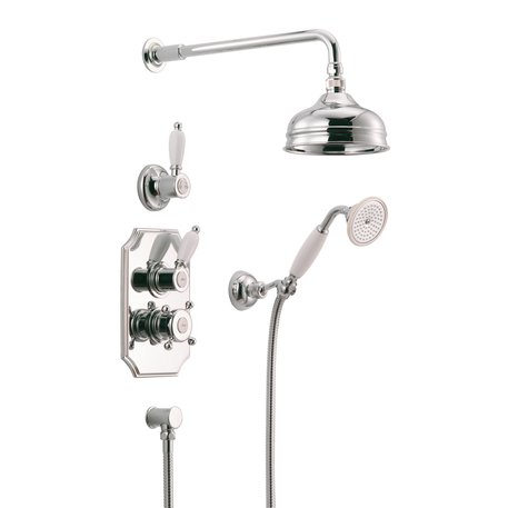 Nostalgic build-in thermostatic shower ensemble