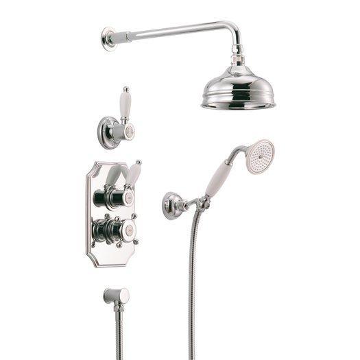 Nostalgic build-in thermostatic shower ensemble