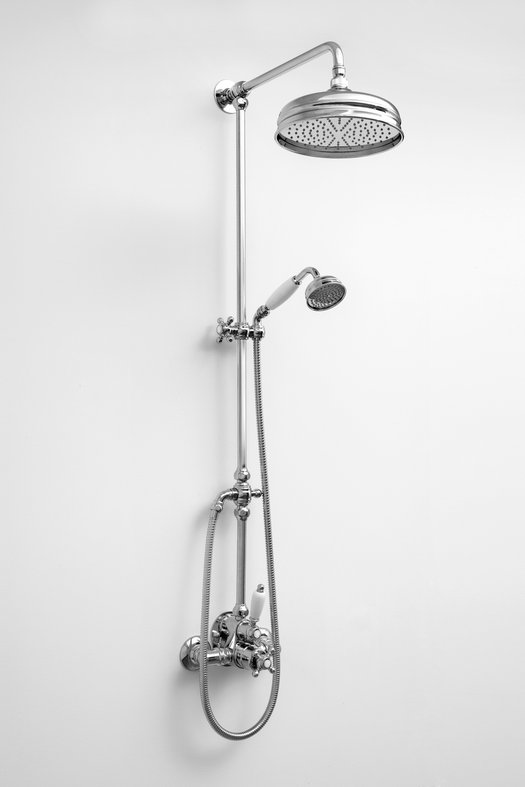 Retro shower column for the country style bathroom