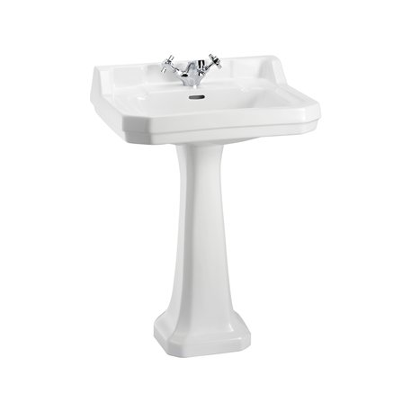 Cottage washbasin on pillar Edwardian