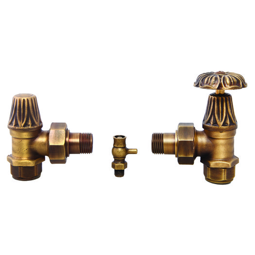 Connection kit for cast iron radiators with floral design