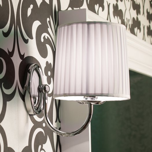 Raffaello wall lamp with white fabric shade