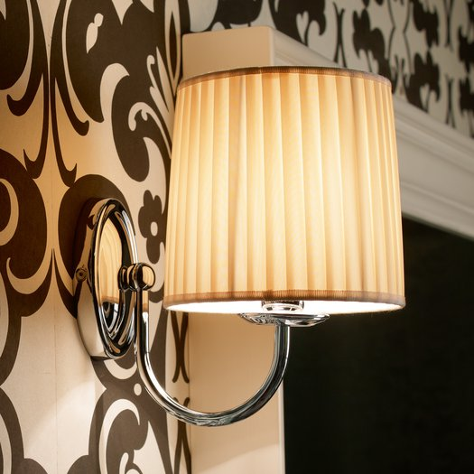 Raffaello wall lamp with beige fabric shade