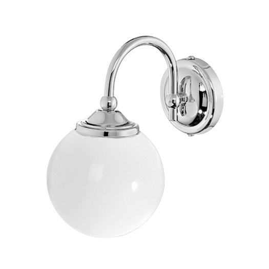 Retro wall lamp with round glass for the bathroom