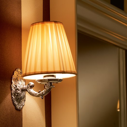 Sharm wall lamp with beige fabric shade