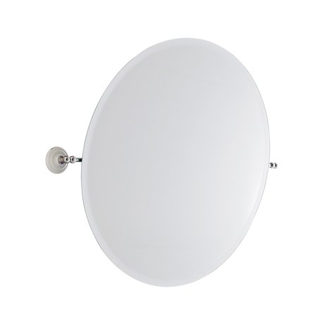 Retro round mirror for the classic bathroom