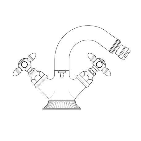 Classical bidet faucet