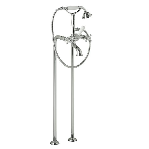 Bathtub faucet on standpipe kit in retro style