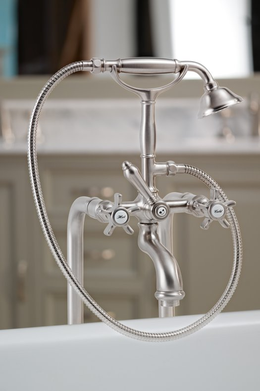 Retro bath & shower mixer available in more than 20 finishes