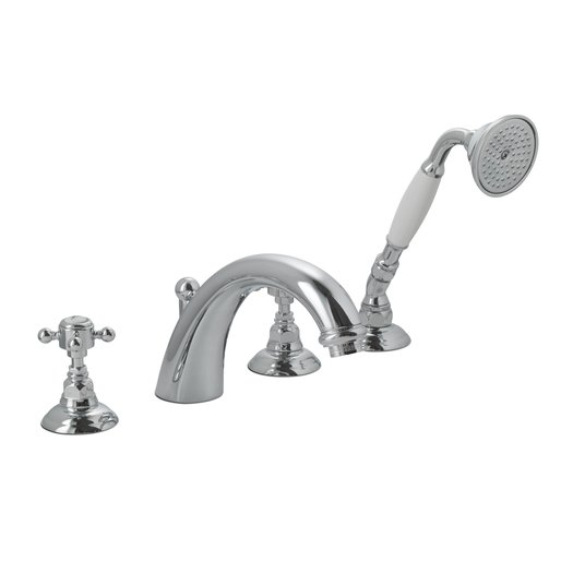 Vintage deck mounted bathtub mixer for the country style bathroom