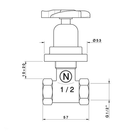 Elica cut-off valve