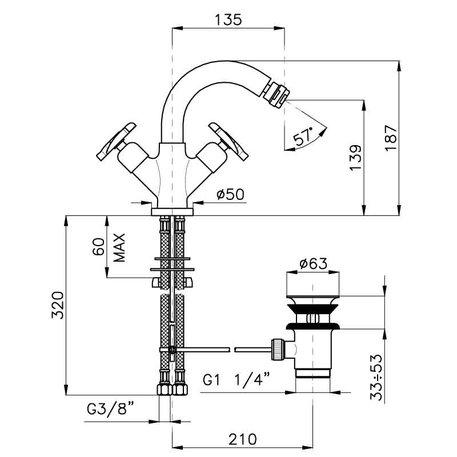 Elica bidet mixer 950.2237.87.xx