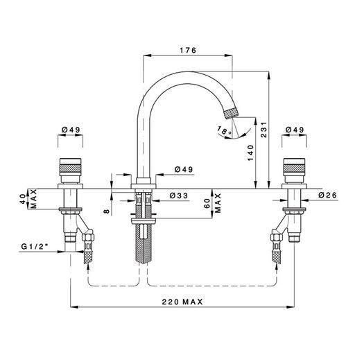 Khady trendy washbasin mixer 950.2408TC.21