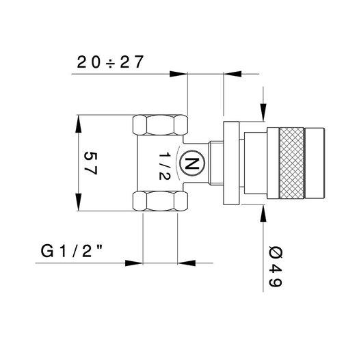 Khady built-in shut-off valve 950.2412.21