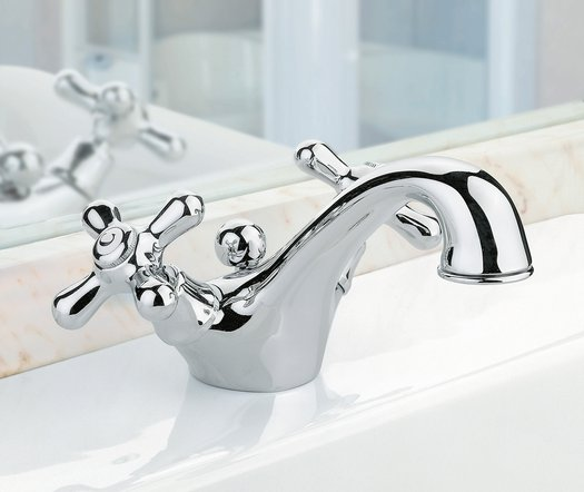 Cottage tap on classic bathroom furniture