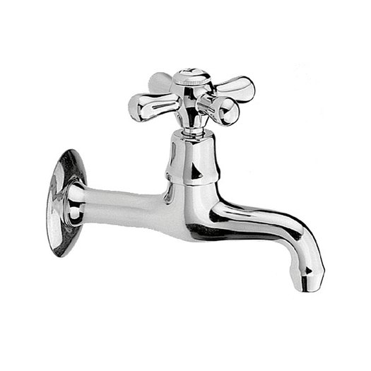 Single wall service faucet in retro style
