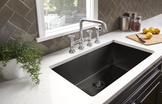 Design kitchen faucet in industrial style with hand shower