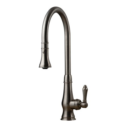 Rural kitchen faucet with extendable hand shower