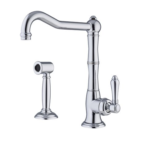 Retro kitchen faucet with pull-out hand shower