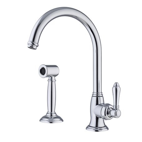 Cottage kitchen faucet with hand shower
