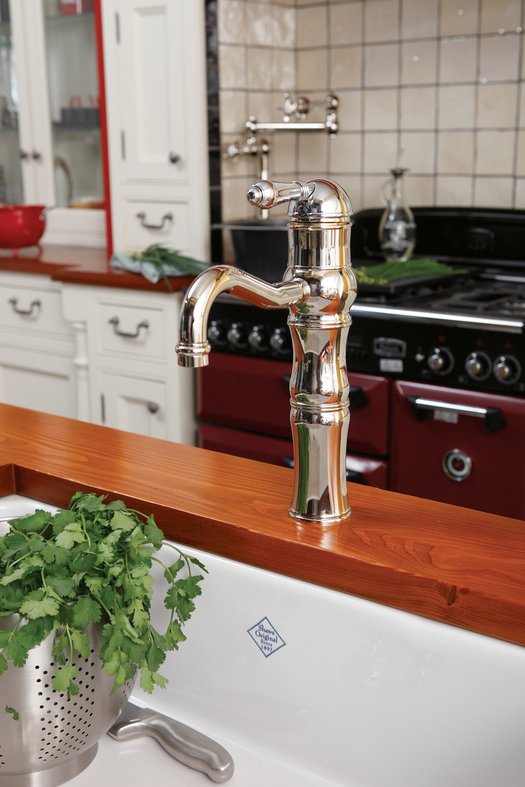 Cozy retro kitchen with quality faucets
