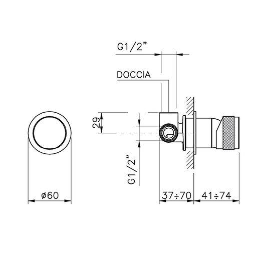 Single handle build-in shower mixer
