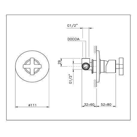 M.Croce single lever showerfaucet