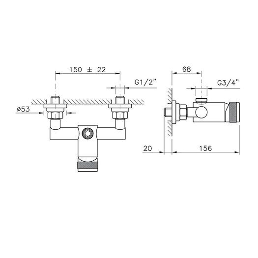 Design single lever shower mixer 950.3725.94N