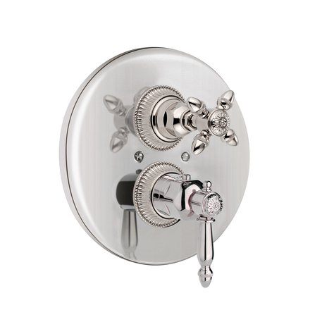 Impero built-in thermostatic shower faucet with cross grip handle