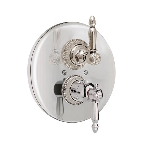 Elegant retro thermostatic built-in shower faucet with a handle