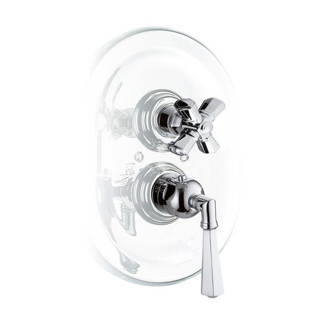 Thermostatic built-in shower faucet for the classic bathroom