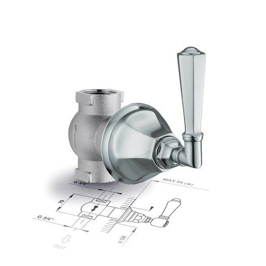 Teide build-in cut-off valve for shower setup