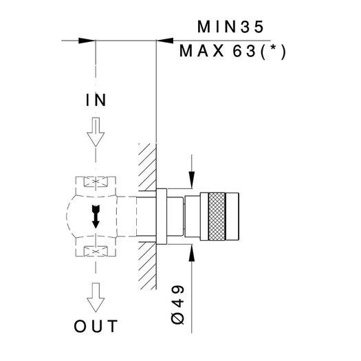 Khady built-in shut-off valve 950.4912.21