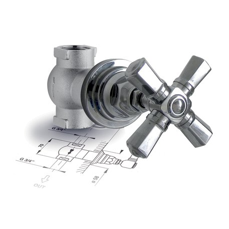 "Build-in stop valve 3/4"" Agora 950.4912.xx.xx"