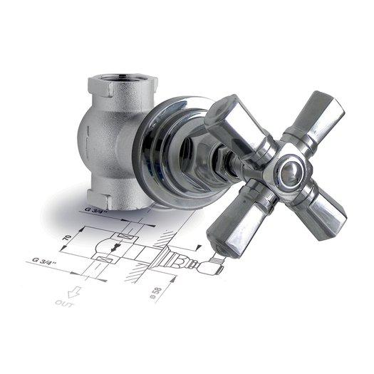 """Build-in stop valve 3/4"""" Agora 950.4912.xx.xx"""