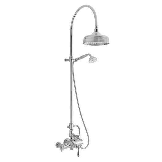 Traditional thermostatic shower system for the retro bathroom