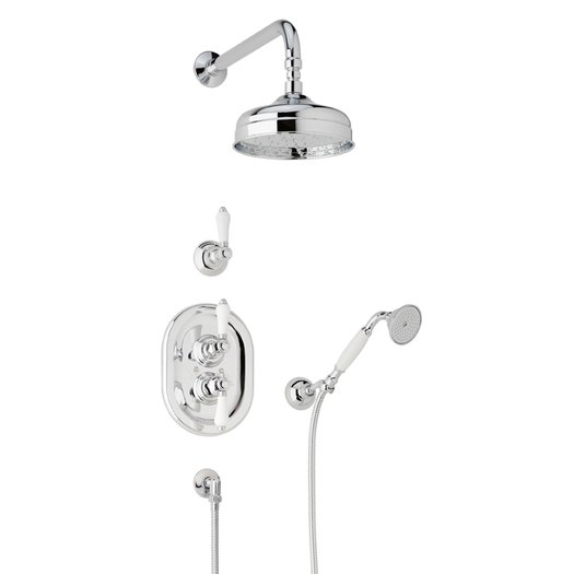Traditional English style build-in shower system